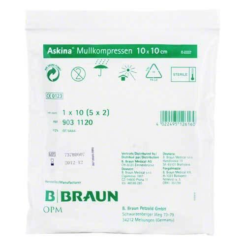 Askina Mullkompressen 10x10 - 1
