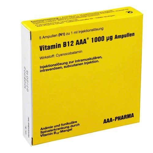 Vitamin B12 AAA 1000 µg Ampullen - 1