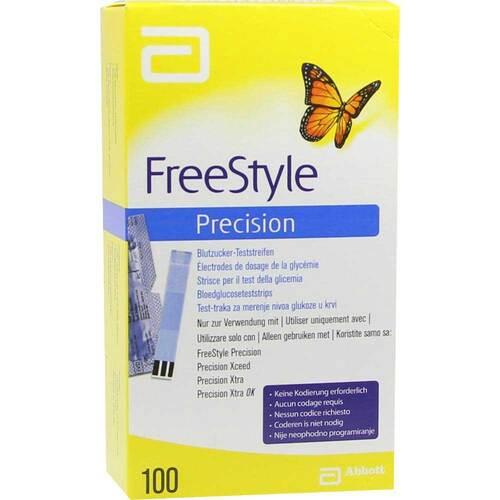 Freestyle Precision Blutzucker Teststreifen ohne Codier. - 1