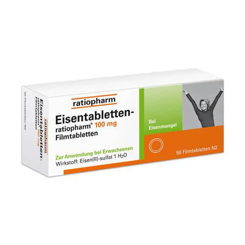 Eisentabletten ratiopharm 100 mg Filmtabletten - 1