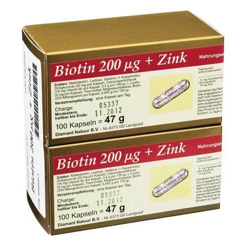 Biotin 200 + Zink Kapseln - 1