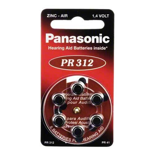 Batterien für Hörgeräte Panasonic PR 312 - 1