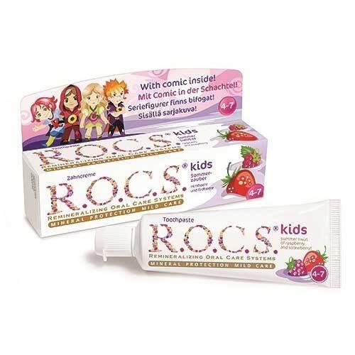 Rocs Kinder Himbeere + Erdbeere Zahnpasta - 1
