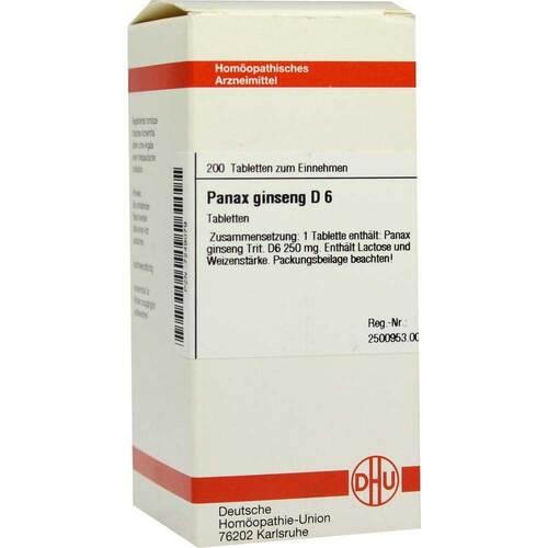 Panax Ginseng D 6 Tabletten - 1