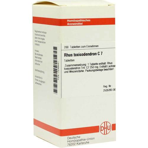 Rhus toxicodendron C 7 Tabletten - 1