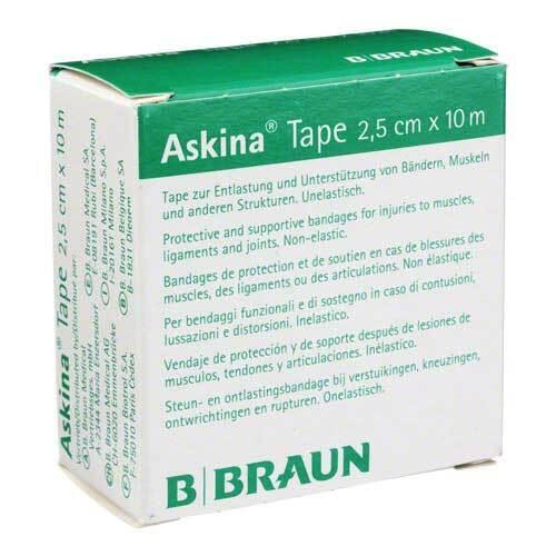 Askina Tape Pflaster 10mx2,5cm weiß unelastisch - 1