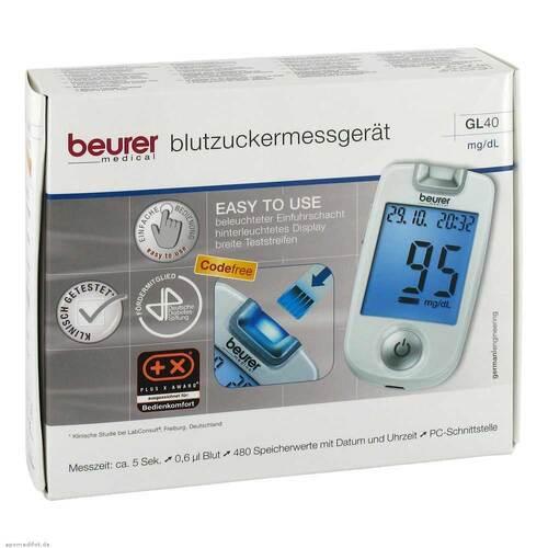 Beurer GL40 mg / dl Blutzuckermessgerät codefree - 1