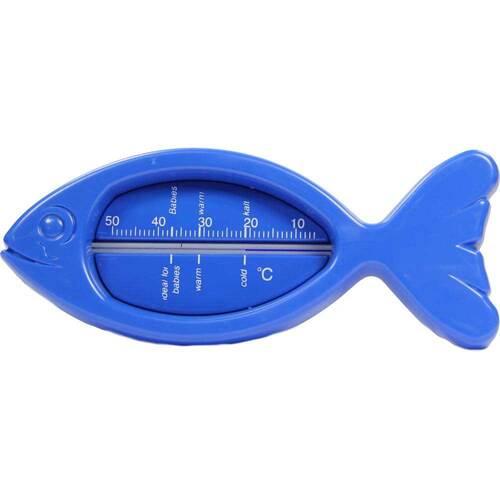 Badethermometer Kunststoff Fisch blau - 1