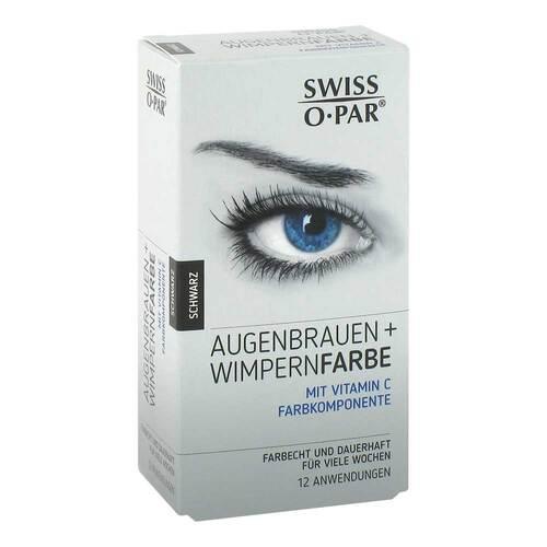 Augenbrauen + Wimpernfarbe Set schwarz Swiss O Par - 1