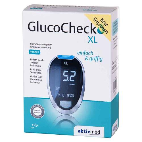 Gluco Check XL Blutzuckermess Set mmol / l - 1