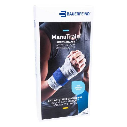 Manutrain Handgelenkbandage Größe 4 links schwarz - 1