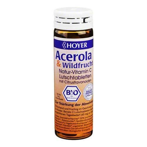 Acerola und Wildfrucht Vitamin C Lutschtabletten - 1