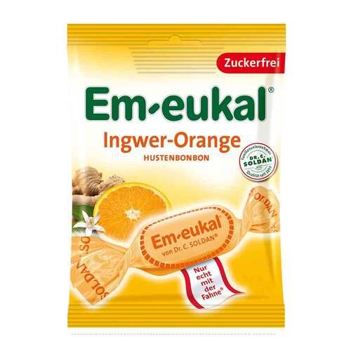 Em-eukal Hustenbonbons Ingwer Orange zuckerfrei - 1