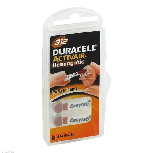 Batterien für Hörgeräte Duracell 312 - 1
