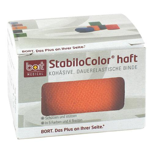 Bort Stabilocolor haft Binde 4cm orange - 1