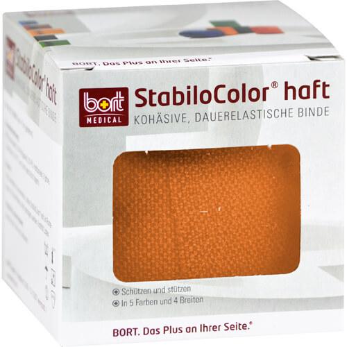 Bort Stabilocolor haft Binde 6cm orange - 1