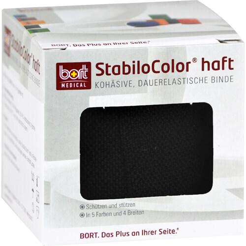 Bort Stabilocolor haft Binde 8cm schwarz - 1