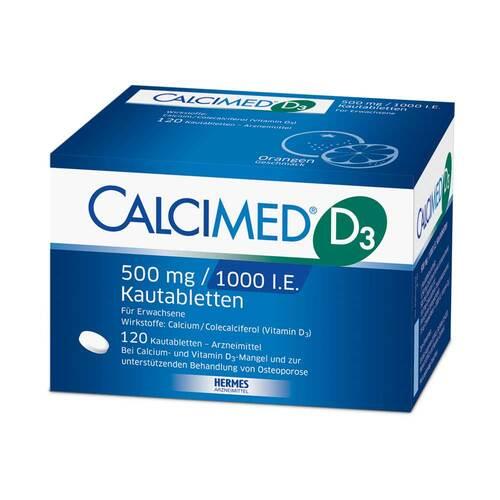Calcimed D3 500 mg / 1000 I.E. Kautabletten - 1