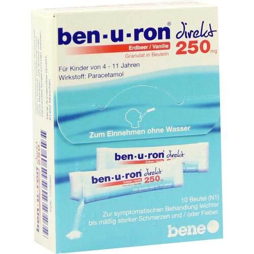 Ben-U-Ron direkt 250 mg Granulat Erdbeer / Vanille - 1