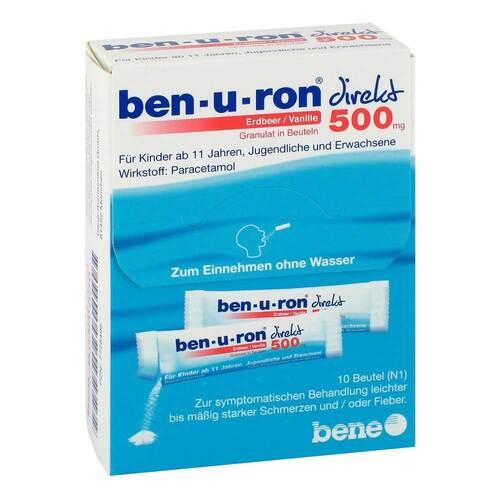 Ben-U-Ron direkt 500 mg Granulat Erdbeer / Vanille - 1