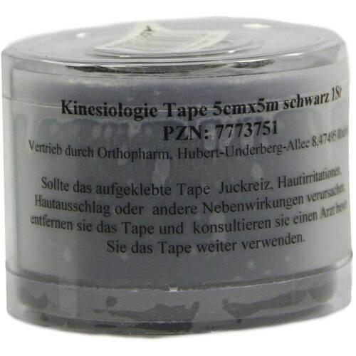 Kinesiologie Tape 5 cm x 5 m schwarz - 1