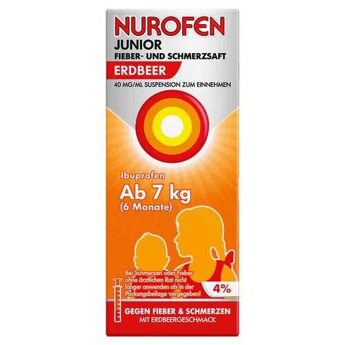 Nurofen Junior Fieber- und Schmerzsaft Erdbeer 40 mg / ml - 1