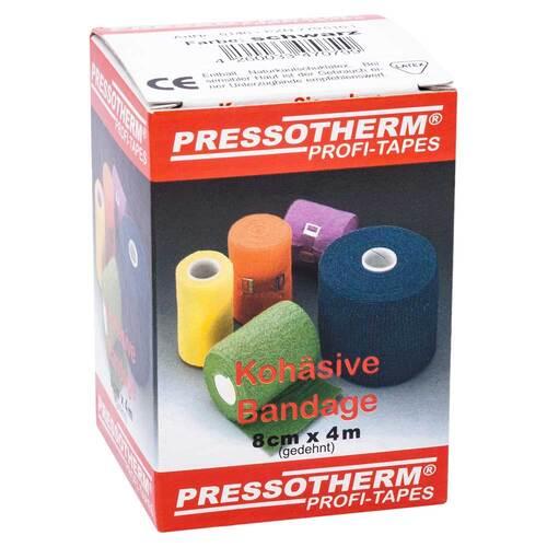 Pressotherm Kohäsive Bandage 8cmx4m schwarz - 1