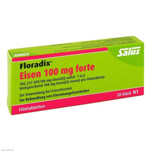 Floradix Eisen 100 mg forte Filmtabletten - 1