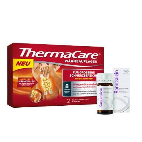 Thermacare große Schmerzbereiche 2 St + Ranocalcin 100 Tbl - 1