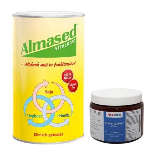 APONEO Almased Vitalkost + Aponeo Basenpulver Citrat Set