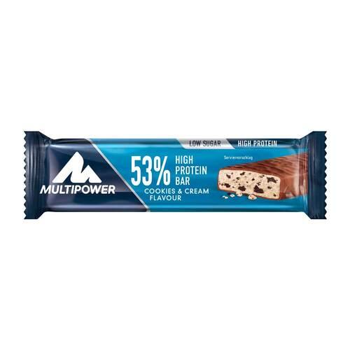 53% High Protein Bar Cookies & Cream - 1