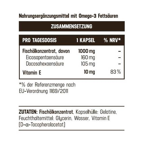 Omega-3 1000 mg / 265 mg Balasense mit Vitamin E - 3