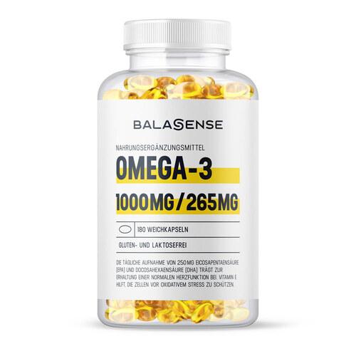 Omega-3 1000 mg / 265 mg Balasense mit Vitamin E - 1