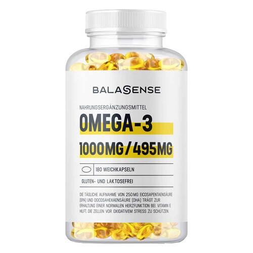 Omega 3 1000 mg / 495 mg hochdosiert Balasense mit Vitamin E - 1