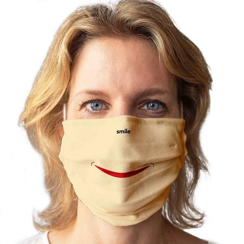 Stoffmaske waschbar Motiv Smile - 2