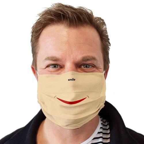 Stoffmaske waschbar Motiv Smile - 3