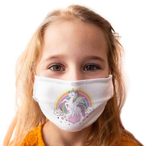 Kinder-Mundschutz waschbar Motiv Einhorn - 3