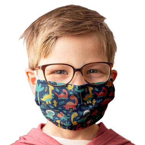 Kinder-Mundschutz waschbar Motiv Dinosaurier - 2