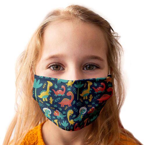 Kinder-Mundschutz waschbar Motiv Dinosaurier - 3