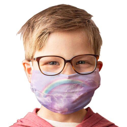 Kinder-Mundschutz waschbar Motiv Regenbogen - 2