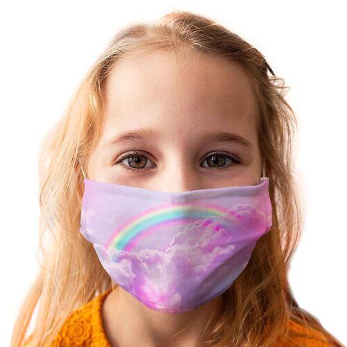 Kinder-Mundschutz waschbar Motiv Regenbogen - 3