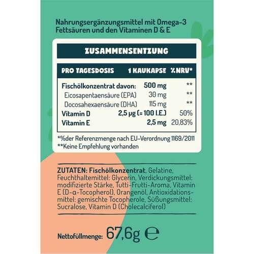 Omega-3 Kids mit Vitamin D + E Balasense - 2