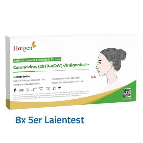 NOVEL 2019-nCoV Corona Antigen Selbsttest Nasentest 40 St.