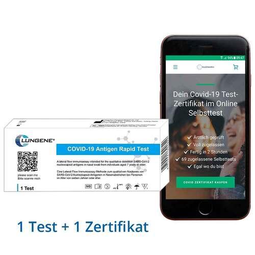 Online Covid Selbsttest Clungene Test + Zertifikat - 1