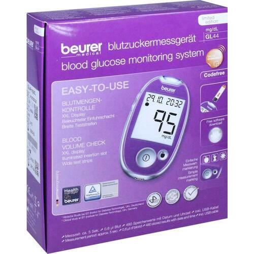 Beurer Blutzuckermessgerät GL 44 mg / dl lila - 1
