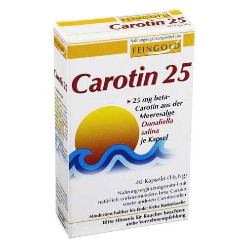 Carotin 25 Feingold Kapseln - 1