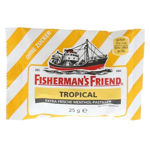 Fishermans Friend Tropical ohne Zucker Pastillen - 1