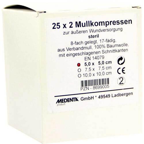Mullkompressen 5x5 cm steril 8-fach - 1