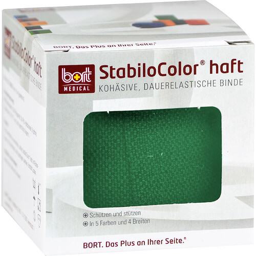 Bort Stabilocolor haft Binde 4cm grün - 1