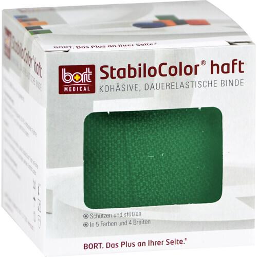 Bort Stabilocolor haft Binde 6cm grün - 1